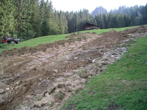 Pistenkorrektur Tschuggen für Lenk Bergbahnen